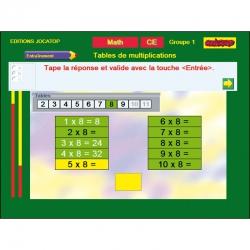 Exercice Table de multiplications