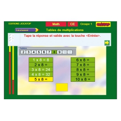 Exercice Table de multiplications