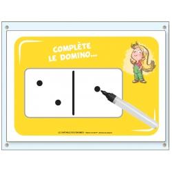 Planche A4 domino + pochette-ardoise