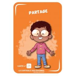 """Carte recto """"Partage"""""""