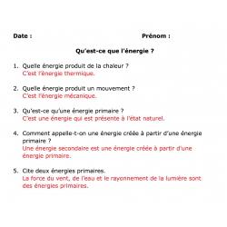 exercices questions/réponses avec corrigé