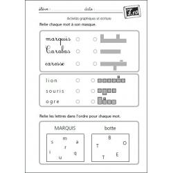 """Exemple de fiche """"Activité graphique et écriture"""""""