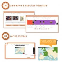 14 animations et exercices interactifs pour un apprentissage ludique et participatif 23 cartes animées avec commentaire audio