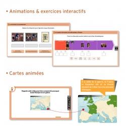 Des animations et exercices interactifs pour un apprentissage ludique et participatif Des cartes animées avec commentaire audio