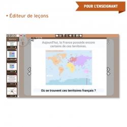 Créez intégralement votre leçon grâce à la bibliothèque de médias, importez vos images ou copiez et modifiez une leçon Jocatop.