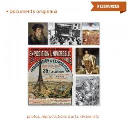 Les leçons sont enrichies par de nombreux documents originaux (photos, reproductions d'œuvres d'arts, textes, etc.).