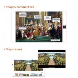 • Des images commentées : une lecture guidée reprenant les points clés de chaque ressource • Des diaporamas thématiques