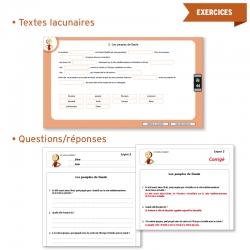 Un ensemble de textes lacunaires et d'exercices questions/réponses.